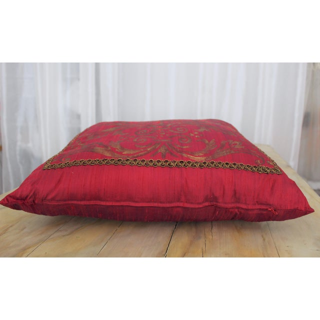 Traditional Isabelle H. Fortuny Style Hand-Painted Cherry Pillow Cover For Sale - Image 3 of 8