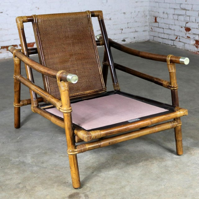 Asian John Wisner for Ficks Reed Rattan Lounge Chair For Sale - Image 3 of 13
