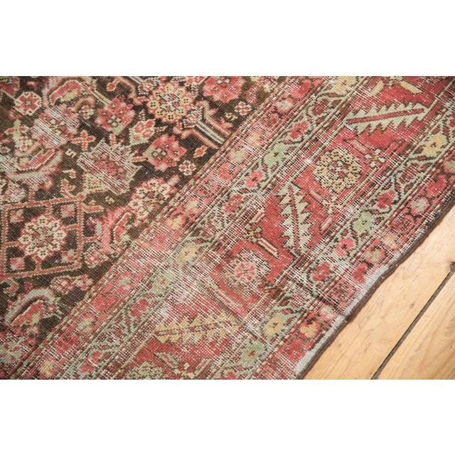 """Red Antique Distressed Karabagh Rug Runner - 5'4"""" X 13' For Sale - Image 8 of 13"""