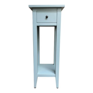 Blue Distressed End Table