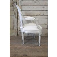 20th Century Louis XVI French Light Gray Armchair - Image 3 of 6