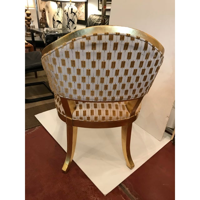 Contemporary Century Gold Leaf Amelia Chair For Sale - Image 3 of 10