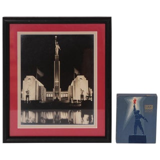 Art Deco Machine Age Heroic Ussr Ephemera 1939 New York World's Fair For Sale