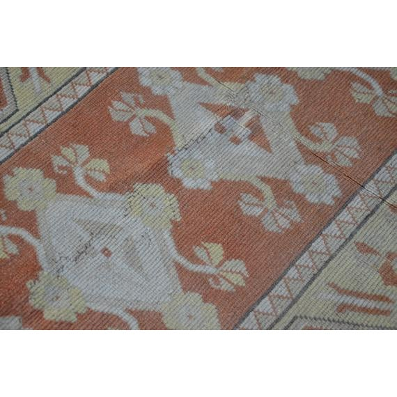 1960s Vintage Turkish Hand-Knotted Rug - 4′1″ × 5′11″ For Sale In Austin - Image 6 of 10