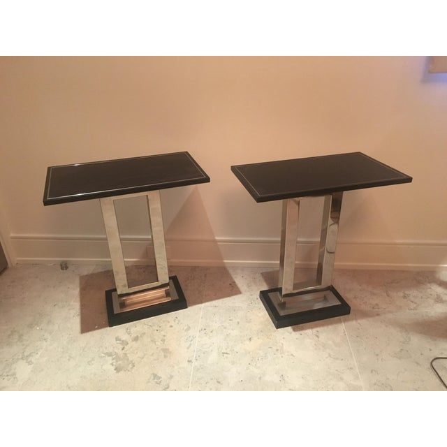 Crate & Barrel Art Deco Crate and Barrel End Tables - a Pair For Sale - Image 4 of 4