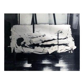 Vintage Japanese Modernist Mixed Media of Nude 1976