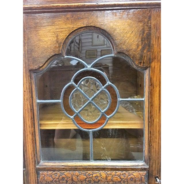 Antique Carved Wood Secretary Desk - Image 7 of 11
