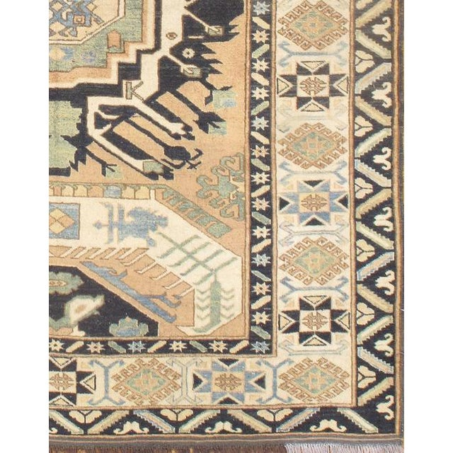 Kazak Design rug. Hand knotted 100% hand-spun lamb's wool rug with all natural dyes. This rug has a dense, soft pile, and...