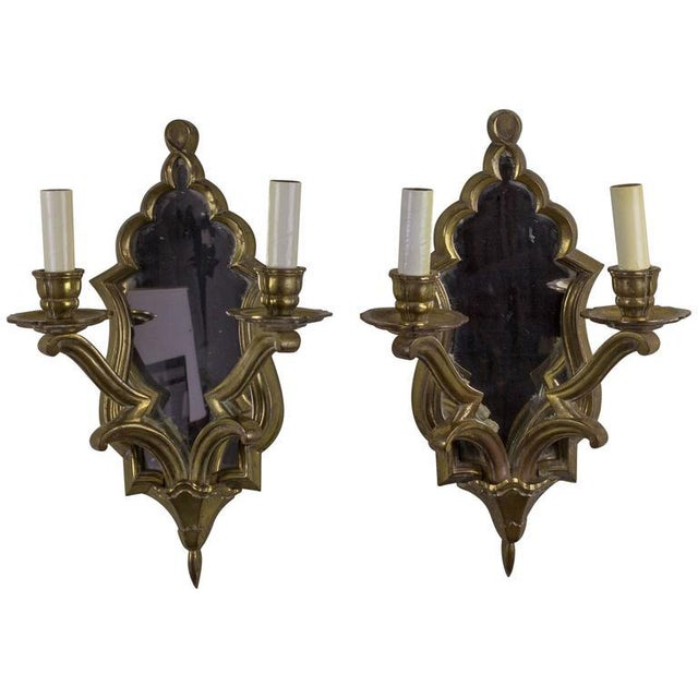 Pair of French Gilt Bronze Sconces - Image 10 of 10