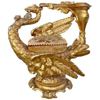 19th Century Venetian Gilt Swan Grotto Chair For Sale
