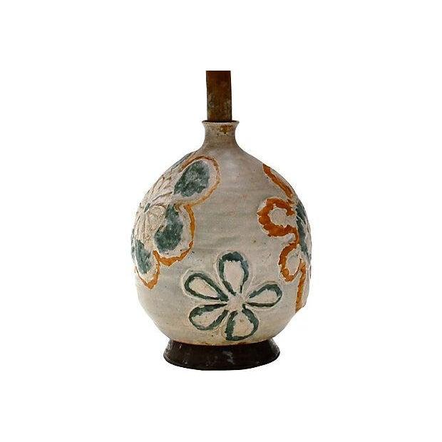 1960s Studio Art Ceramic Lamp - Image 5 of 6