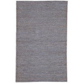 Jaipur Living Aleah Natural Solid Gray Area Rug - 9'x12' For Sale