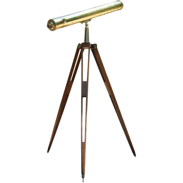 English Refracting Telescope For Sale