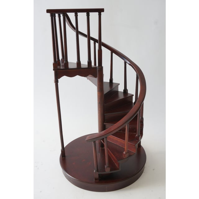 Vintage Spiral Staircase Architectural Model in Mahogany from a Palm Beach estate We have a similar one listed on Chairish...