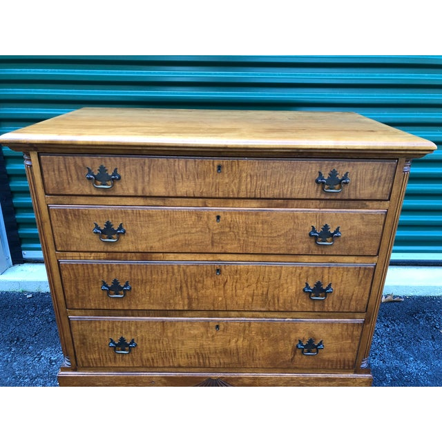 1950s Kaplan Vintage Solid Maple Dresser Chest For Sale - Image 5 of 13