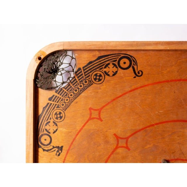 1930s Boho Chic Viking Motif Carrom Board For Sale - Image 4 of 7