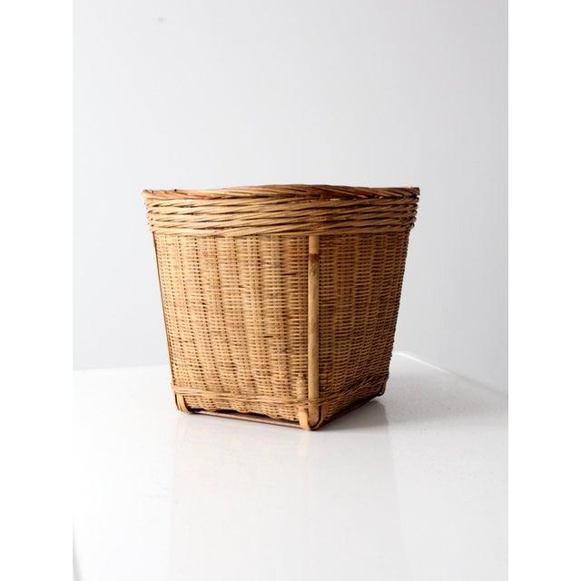 Vintage Woven Reed Basket - Image 8 of 10