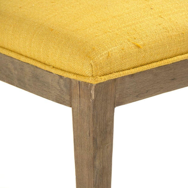 French Country Rochester Side Chair in Yellow For Sale - Image 3 of 4