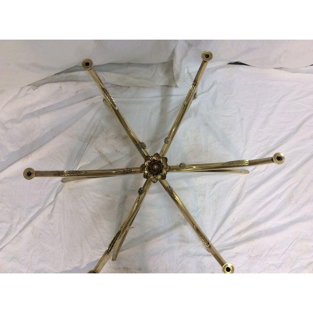 Midcentury Brass Spider Leg Lotus Coffee Table - Image 4 of 7