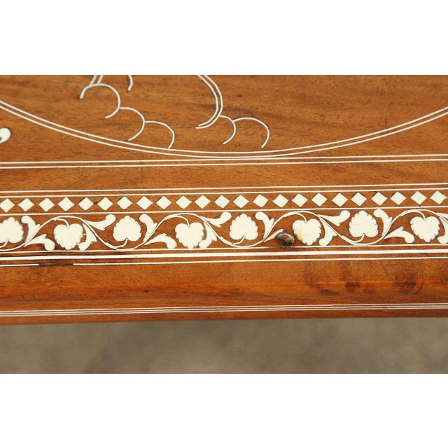 Wood Anglo Indian Inlaid Square Side Table For Sale - Image 7 of 10