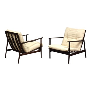 Rosewood Lounge Chairs by Kofod Larsen- a Pair For Sale