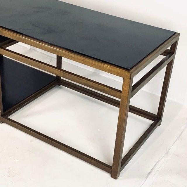 Mid 20th Century Edward Wormley for Dunbar Black Micarta & Ash Model 5403 End Table W/ Shelf For Sale - Image 5 of 8