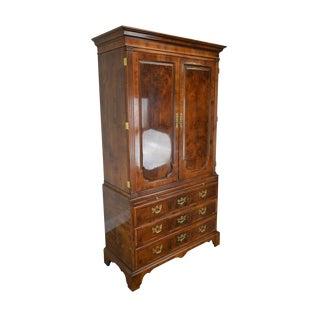 Henredon Aston Court Collection Burlwood Armoire B For Sale