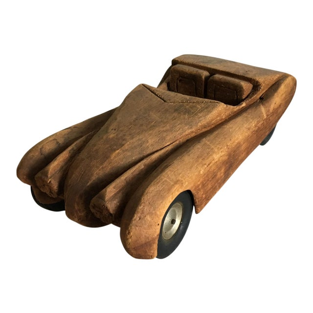 Antique Wooden Hand Carved Model Car - Image 1 of 11