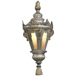 19th Century Venetian Silvered Brass Lantern Chandelier For Sale