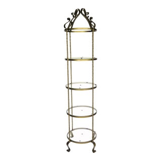 1950s Hollywood Regency Wrought Iron Storage Unit For Sale