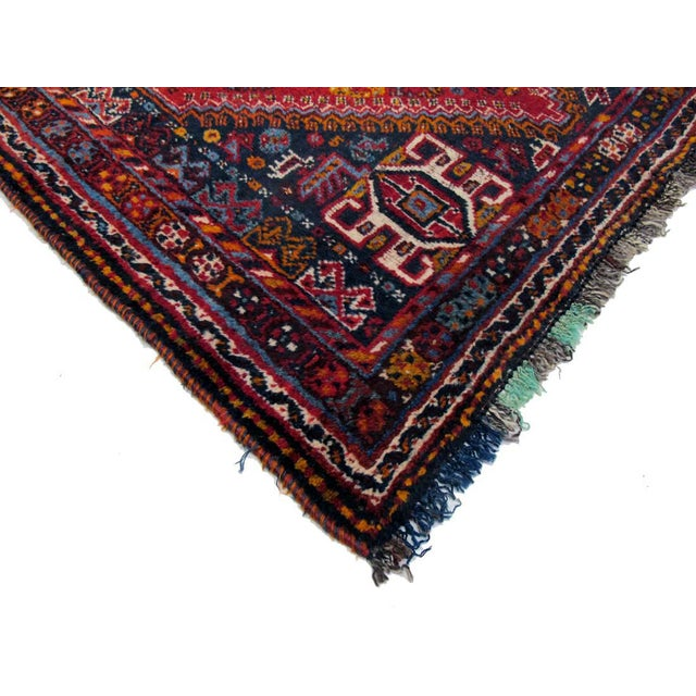 "Boho Chic Vintage Persian Shiraz Rug - 3'9"" X 10'4"" For Sale - Image 3 of 3"