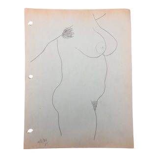 Standing Female Nude by James Bone 1980 For Sale