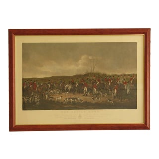 Graves & Warmsley w.h. Simmons Hunt Scene Engraving