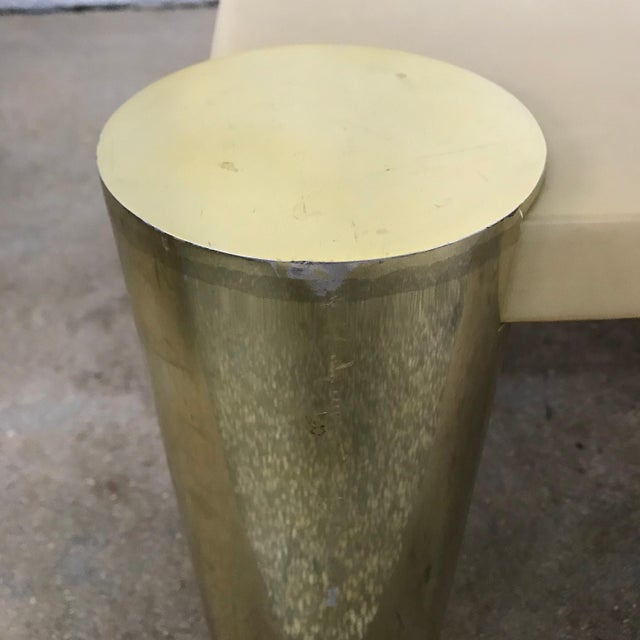 Enrique Garcel Goatskin and Brass Coffee or Cocktail Table For Sale - Image 10 of 13