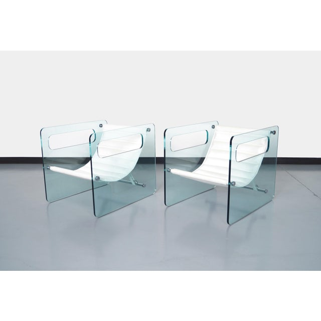 """Italian """"Naked Glass Lounge Chairs by Giovanni Tommaso For Sale - Image 10 of 10"""