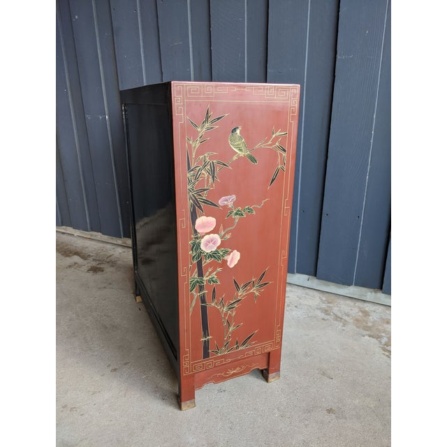 1960s Hand-Painted Chinoiserie Cabinet / Night Stand For Sale - Image 9 of 13