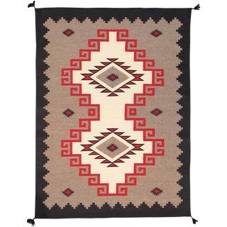 """Pasargad Home Navajo Style Wool Area Rug- 8' 0"""" X 9' 10"""" For Sale"""