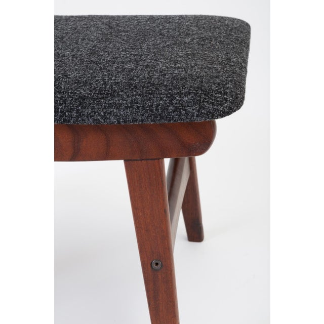 Scandinavian Modern Teak Ottoman With Upholstered Cushion For Sale - Image 11 of 13