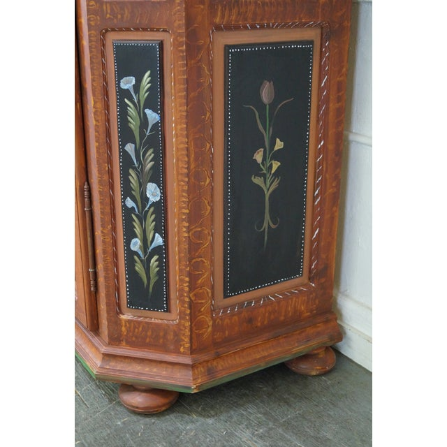 French Style Hand Painted Armoire Cabinet - Image 10 of 10