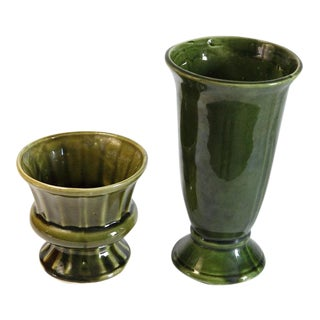 Vintage Ceramic Vases - A Pair For Sale