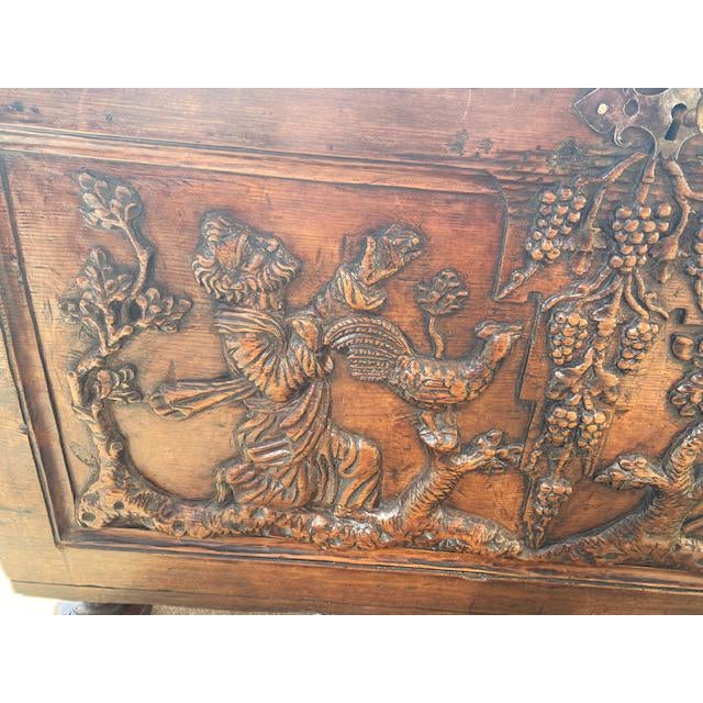 Late 18th Century Italian Carved Trunk Miniature For Sale In Los Angeles - Image 6 of 13