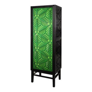 Two-Tone Green Palm Cabinet