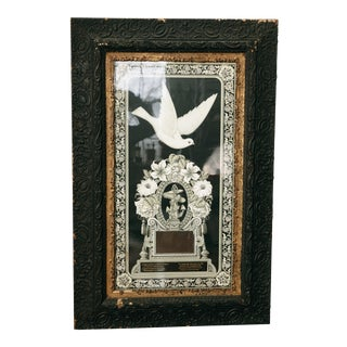Antique Framed Mourning Memorial Lithograph For Sale