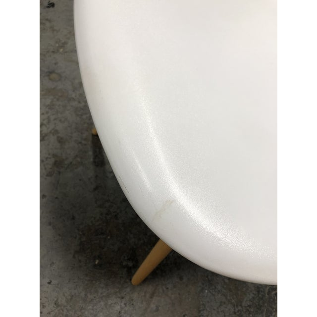 Eames Style White Molded Eiffel Chairs - Set of Six For Sale In San Francisco - Image 6 of 10