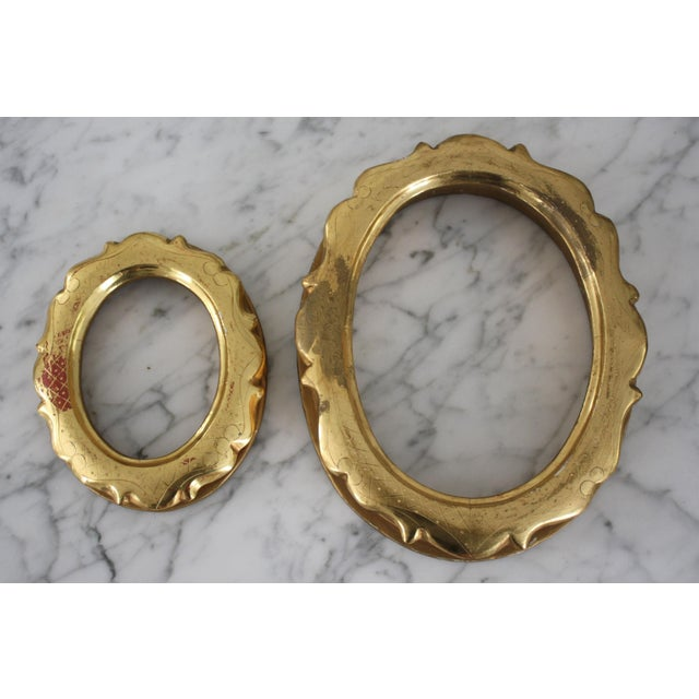 Pair of Gilt Oval Frames For Sale - Image 13 of 13