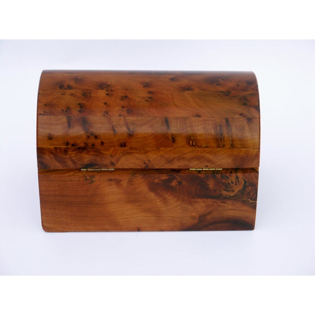 Decorative Juniper Burl Wood Box - Image 8 of 10