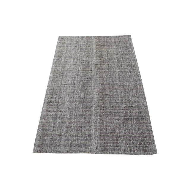 Early 20th Century Early 20th Century Vintage Turkish Gray Brown Kilim Rug - 5′9″ × 10′ For Sale - Image 5 of 5
