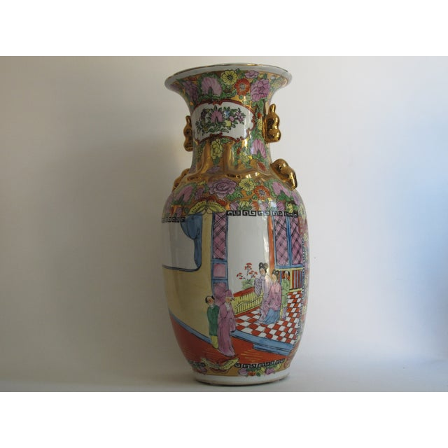 Chinese Gilded Floral Floor Vase - Image 6 of 10