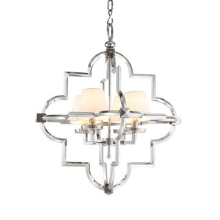 Mandeville S Lantern Silver Chandelier by Eichholtz For Sale