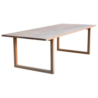 Contemporary Custom White Oak Dining Table For Sale